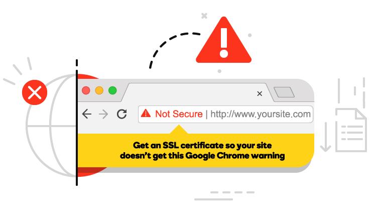 Not Secure web site